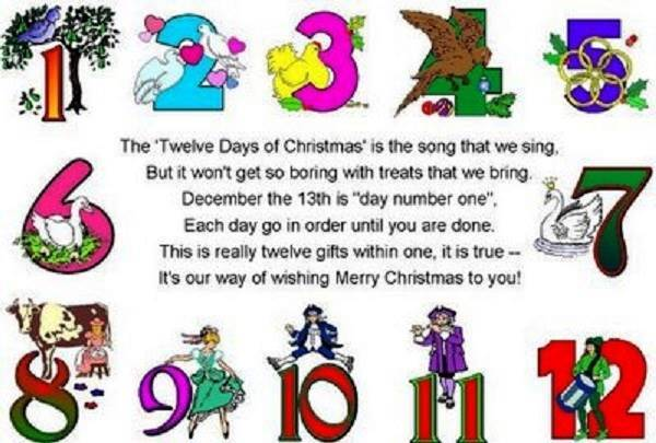 12 Days Of Christmas Lyrics Printable Pictures Wallpapers