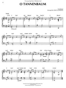 charlie brown christmas sheet music hJFg