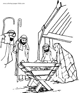 christian christmas coloring pages cPry