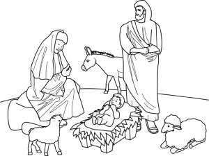 christian christmas coloring pages ziPv