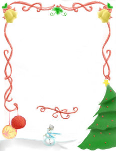 christmas borders for word xmgd