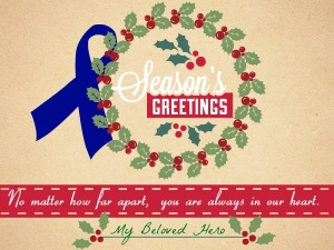 christmas cards for troops TEAL