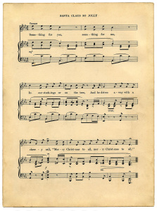 christmas carol sheet music Abkw