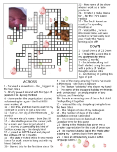 christmas crosswords NrWY