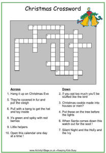 christmas crosswords zbYR
