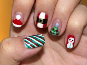 christmas fingernails AQCw
