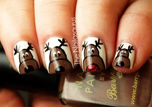 christmas fingernails oVUx
