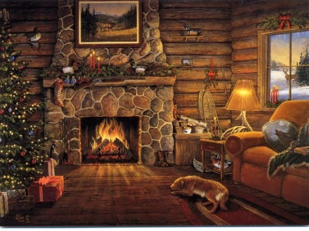 Christmas Fireplace Screensaver Pictures Wallpapers