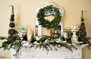 christmas garlands for fireplace NUSd