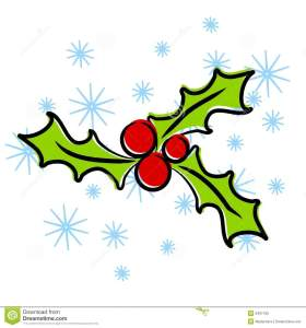 christmas holly clip art fPSO