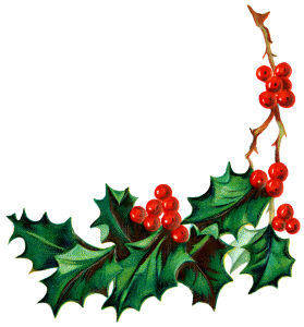 christmas holly clip art nAqS