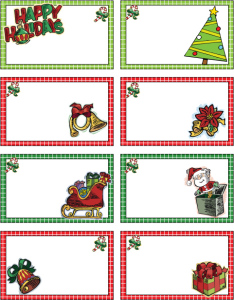 christmas labels template IYXR