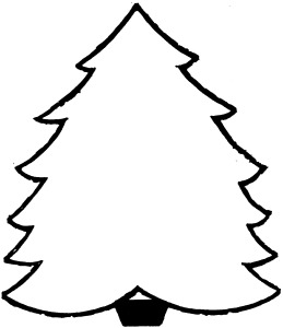 christmas tree cut out pCUe