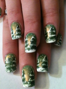 christmas tree nail art XWJd