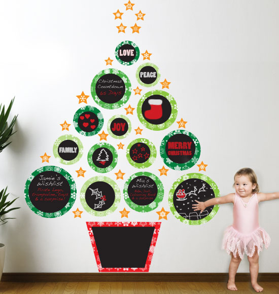 Christmas Tree On Wall Pictures Wallpapers