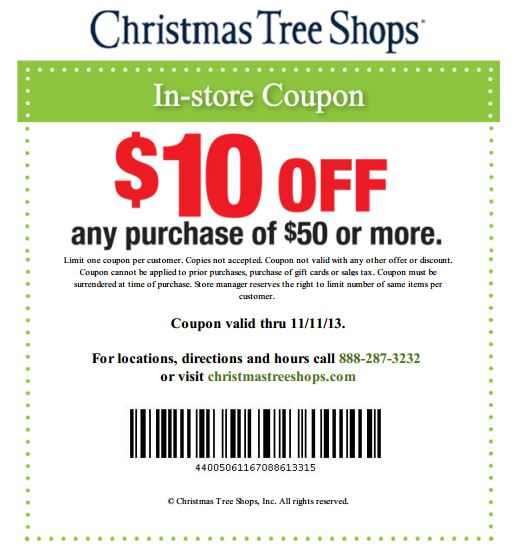 Christmas Tree Shop Coupon 2013 Pictures Wallpapers