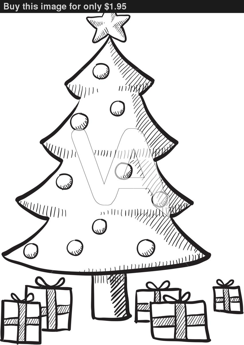 Christmas Tree Sketch Pictures Wallpapers