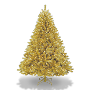 gold and red christmas tree flnT