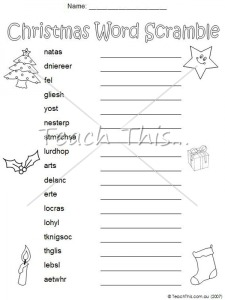 list of christmas words HEOs