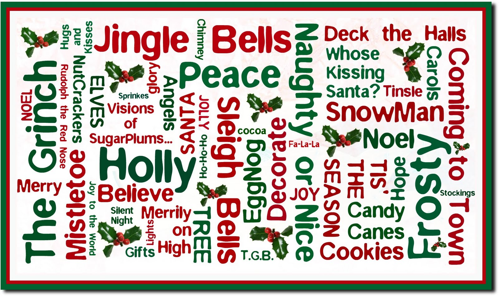 List Of Christmas Words Pictures Wallpapers