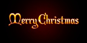 merry christmas text art LswQ