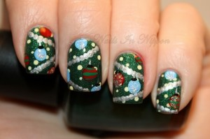 nail art for christmas pobH