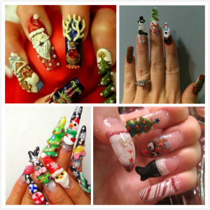 nail art for christmas wjMr