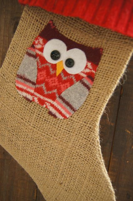 Owl Christmas Stocking Pictures Wallpapers