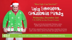 ugly sweater christmas party ideas pwbm