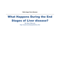 End Stage Liver Failure Pictures Wallpapers