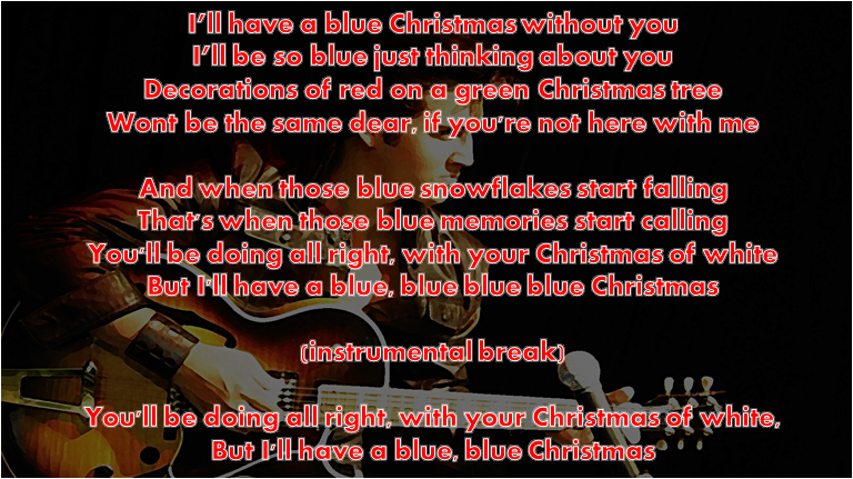 blue christmas elvis presley cover with lyrics martina - Blue Christmas Elvis Presley Lyrics