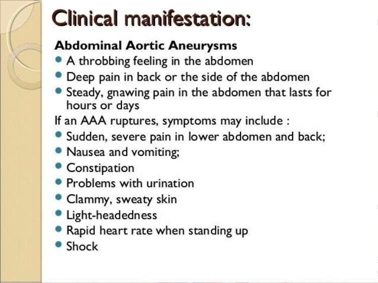 Abdominal Aortic Aneurysm Symptoms Pictures Wallpapers